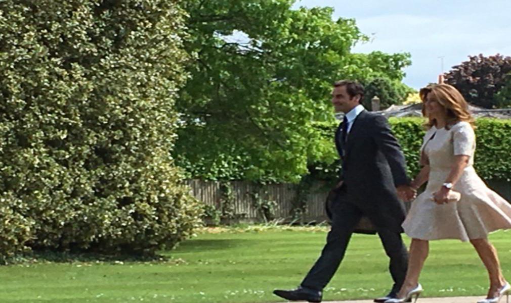Tenista Roger Federer no casamento do ano