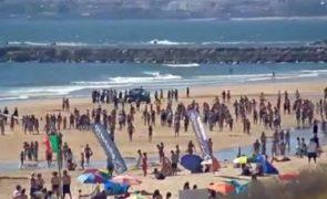 Qualidade da água na praia da Baleia dita interdição a banhos