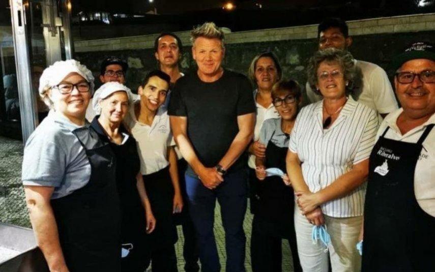 Gordon Ramsay Está em Portugal: chef mais conhecido do mundo janta na Ericeira [Foto]