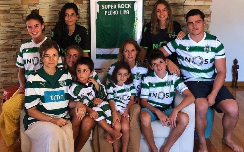 Família de Pedro Lima veste-se «à Sporting» para recordar ator