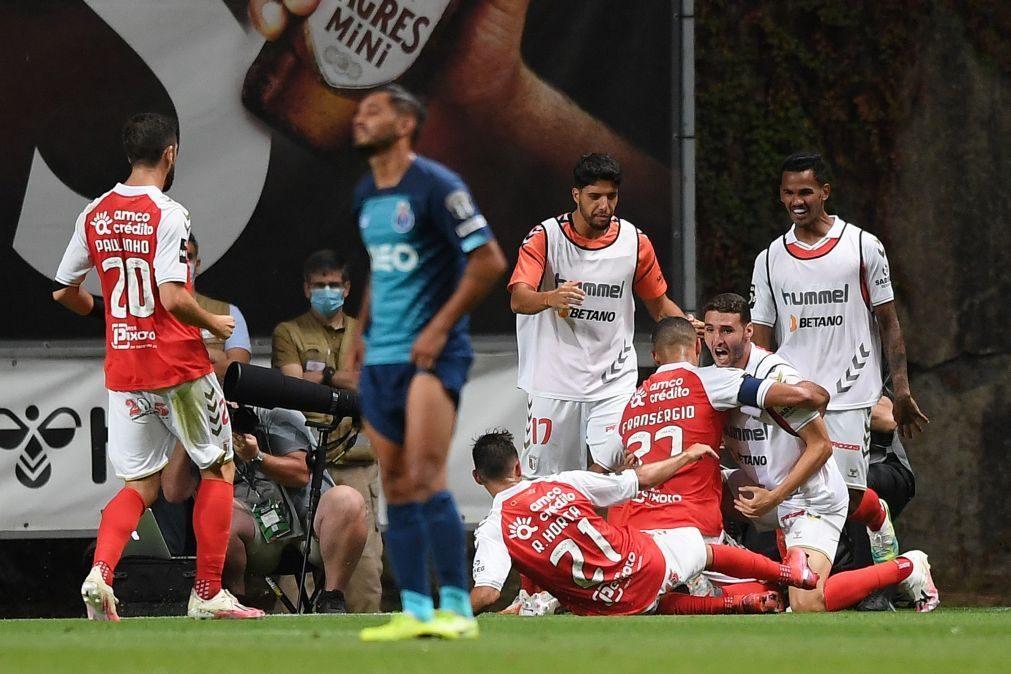 Sporting de Braga vence campeão FC Porto e termina no pódio da I Liga
