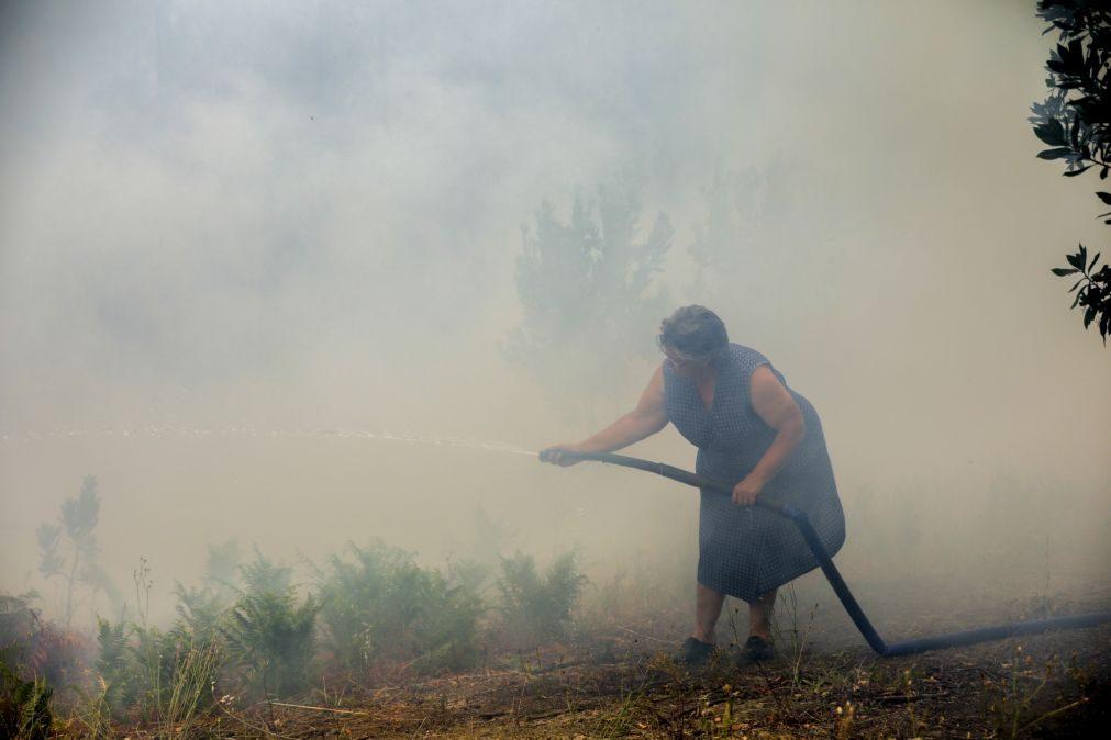 Incêndios: Três aldeias de Oleiros estão em