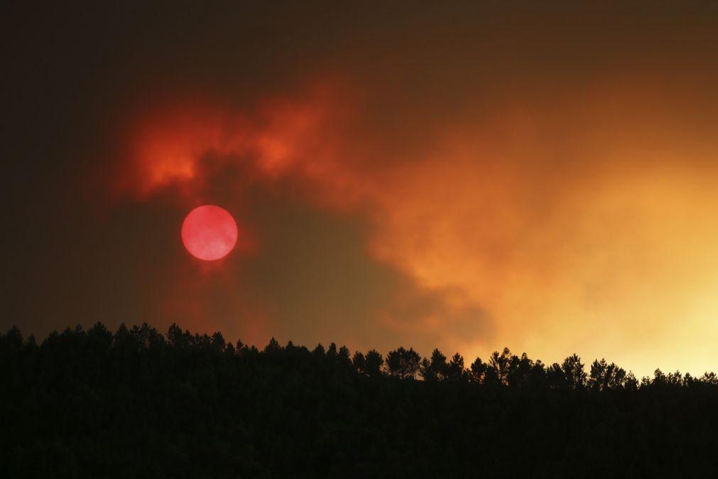 Risco máximo de incêndio em cerca de 50 concelhos do Norte, Centro e Algarve