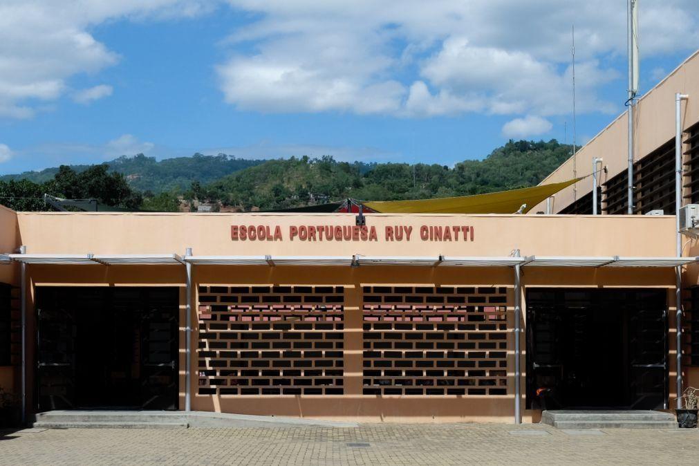 Escola Portuguesa de Díli inaugura novo auditório que lembra cheias de 13 de março.