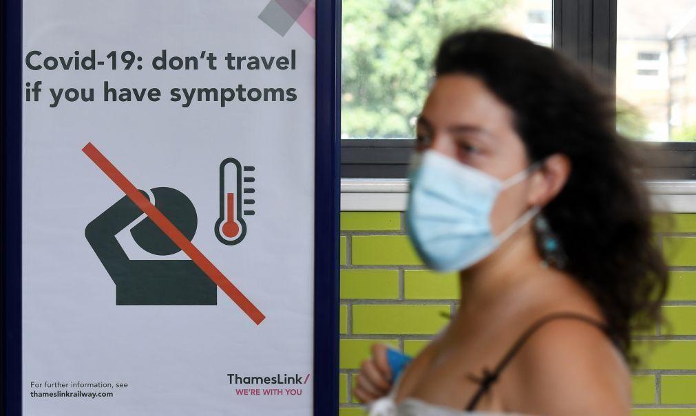 Covid-19: Reino Unido aumenta período de isolamento para infetados de sete para 10 dias