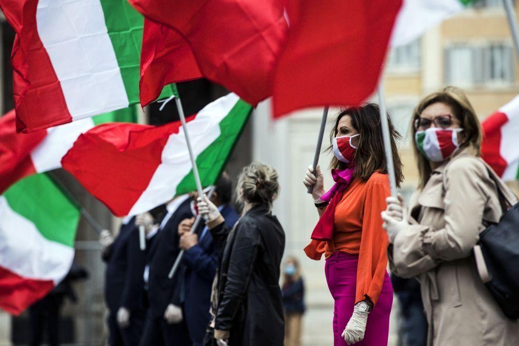 Covid-19: Itália contabiliza 386 novos casos nas últimas 24 horas