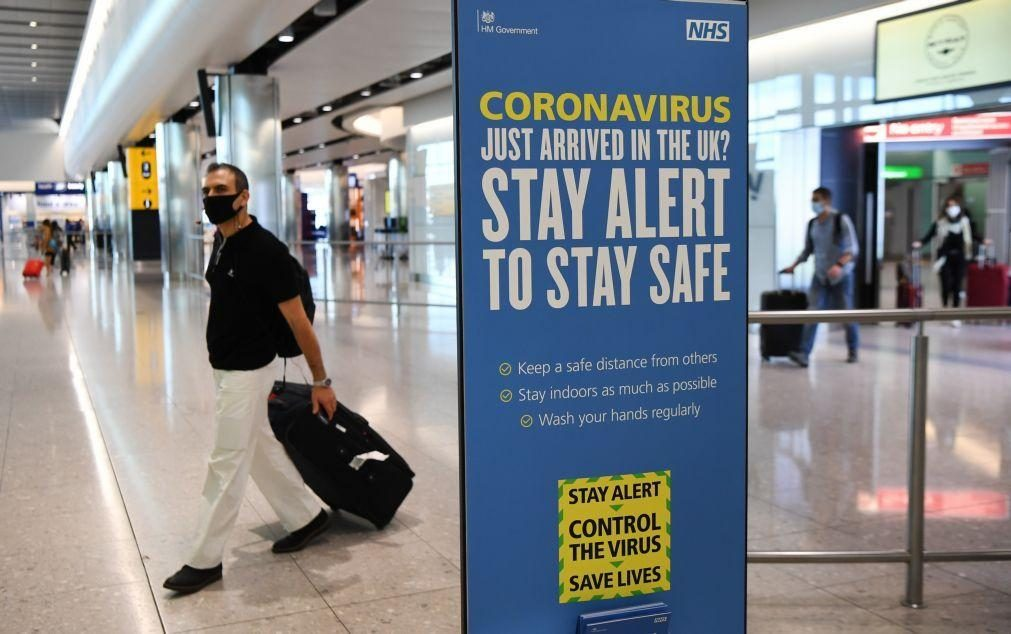 Covid-19: Reino Unido regista 38 mortes e 846 casos de infeção