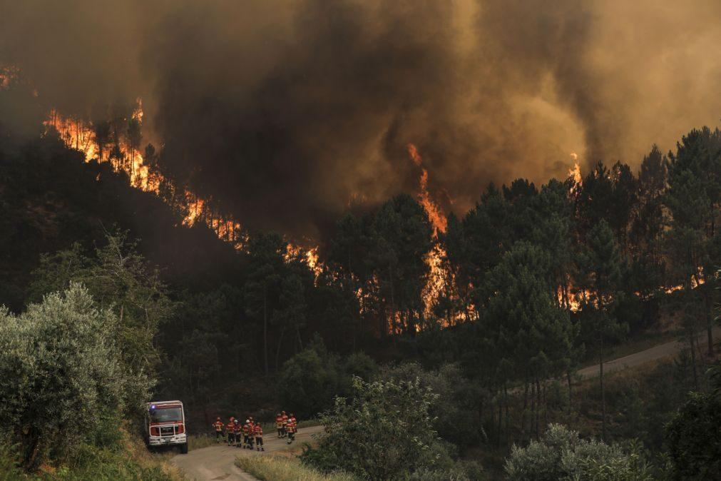Interior Norte e Centro e alguns concelhos do Algarve em risco máximo de incêndio
