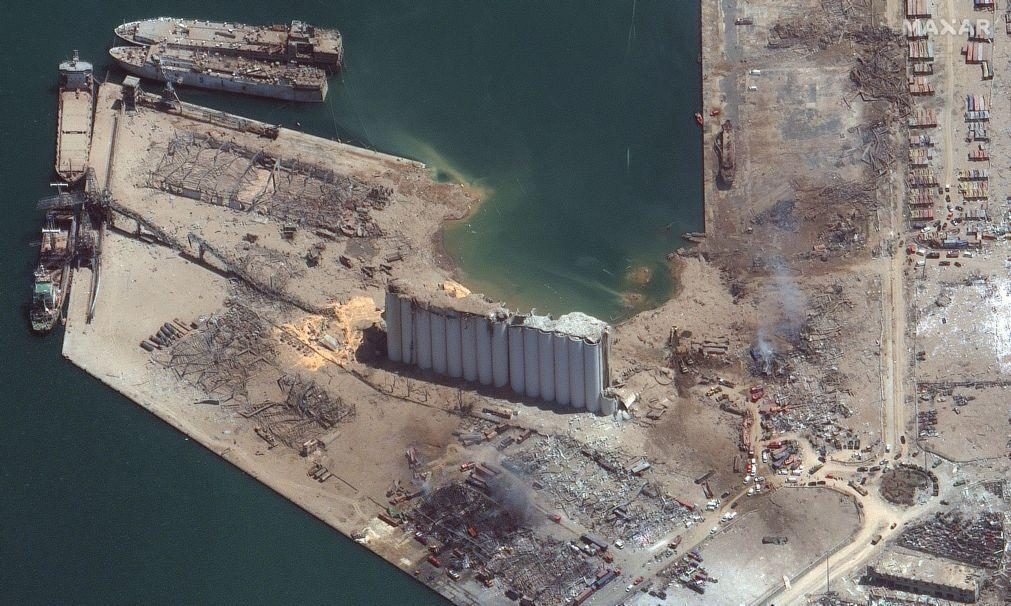 Cratera no porto de Beirute após explosão tem profundidade superior à altura do Cristo Redentor