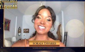 Troféus Impala de Televisão 2020. Soraia Tavares agradece nomeação