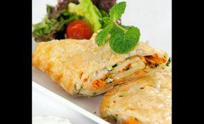 Receita de rolo vegetariano rápido e fácil de preparar