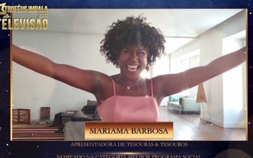 Troféus Impala de Televisão 2020 Mariama Barbosa agradece nomeação e deixa recado aos espectadores de Tesouras & Tesouros