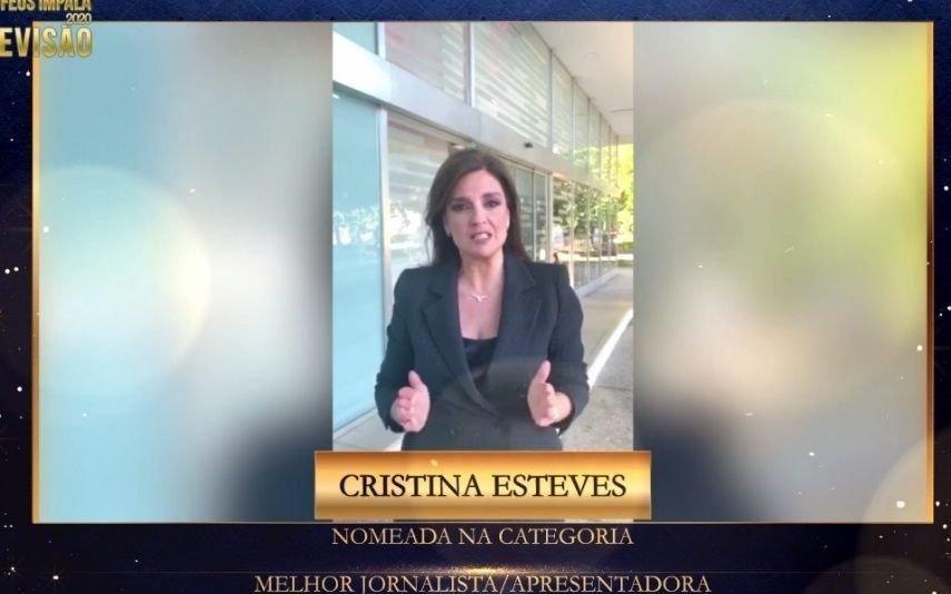 Troféus Impala de Televisão 2020 Cristina Esteves agradece nomeação num «ano particularmente difícil»