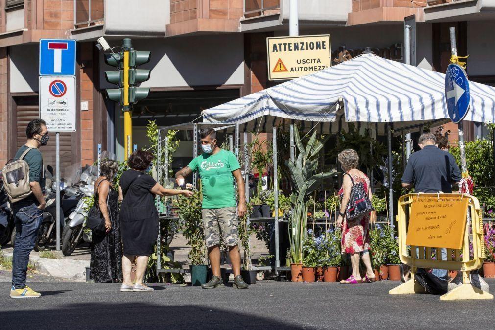 Covid-19: Itália regista mais 1.210 casos e sete óbitos nas últimas 24 horas