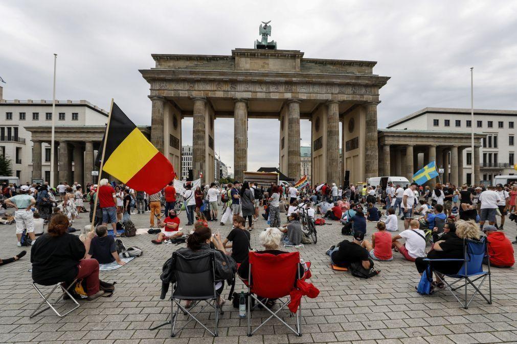 Covid-19: Marcha de hoje em Berlim contra restrições sujeita a condições para se realizar