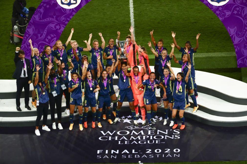 Lyon bate Wolfsburgo por 3-1 e conquista sétima 'Champions' de futebol feminino