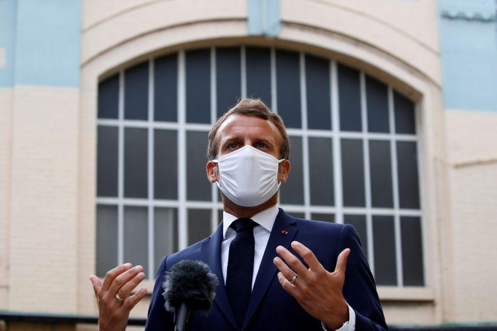 Líbano: França pronta a acolher uma conferência de apoio em outubro -- Macron