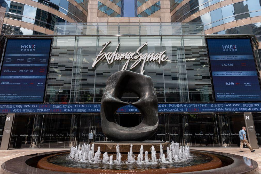 Bolsa de Xangai abriu a cair 0,16%
