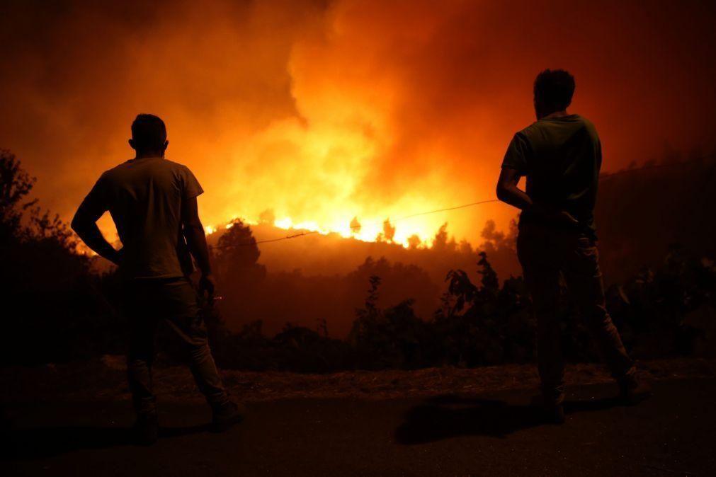 Proteção Civil estima área ardida de dois mil hectares no incêndio de Oliveira de Frades