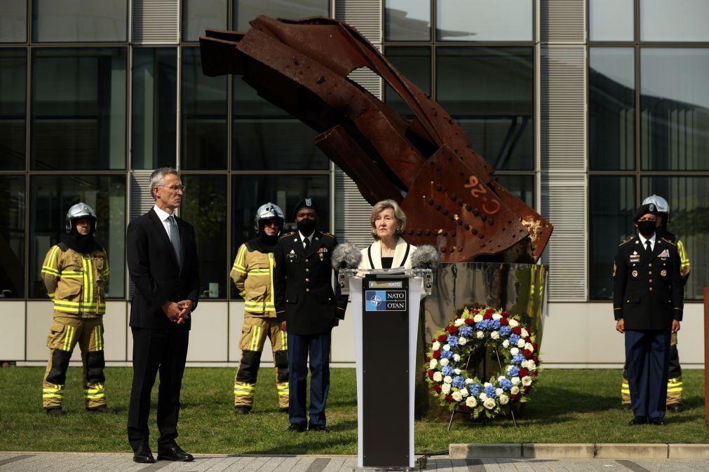 NATO homenageia vítimas dos atentados de 11 de setembro nos EUA há 19 anos