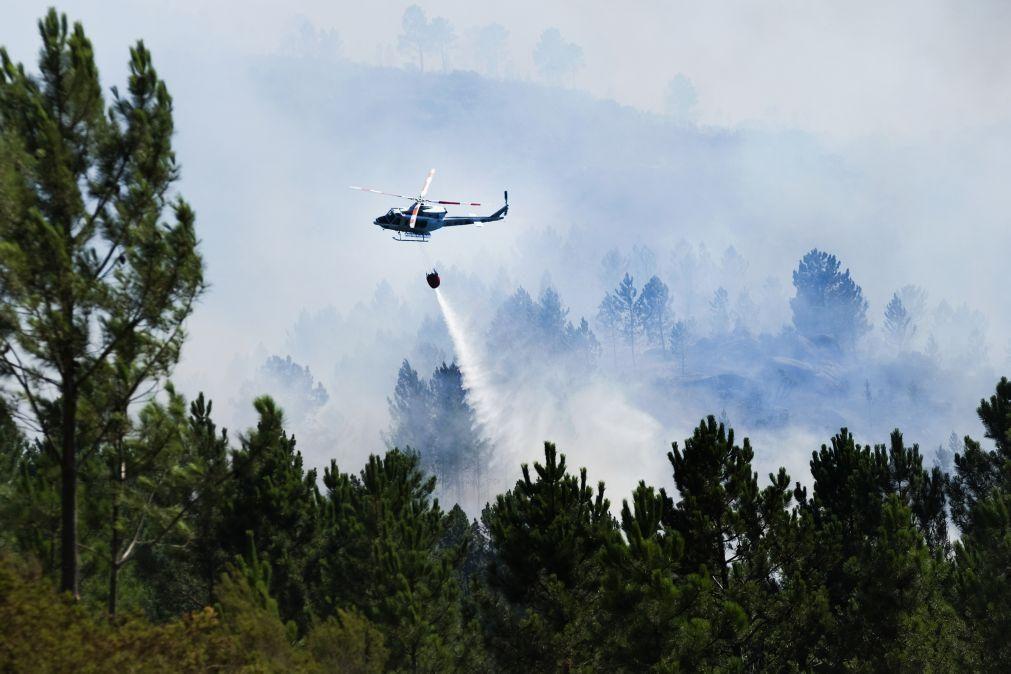 Quase 900 operacionais combatem 15 incêndios