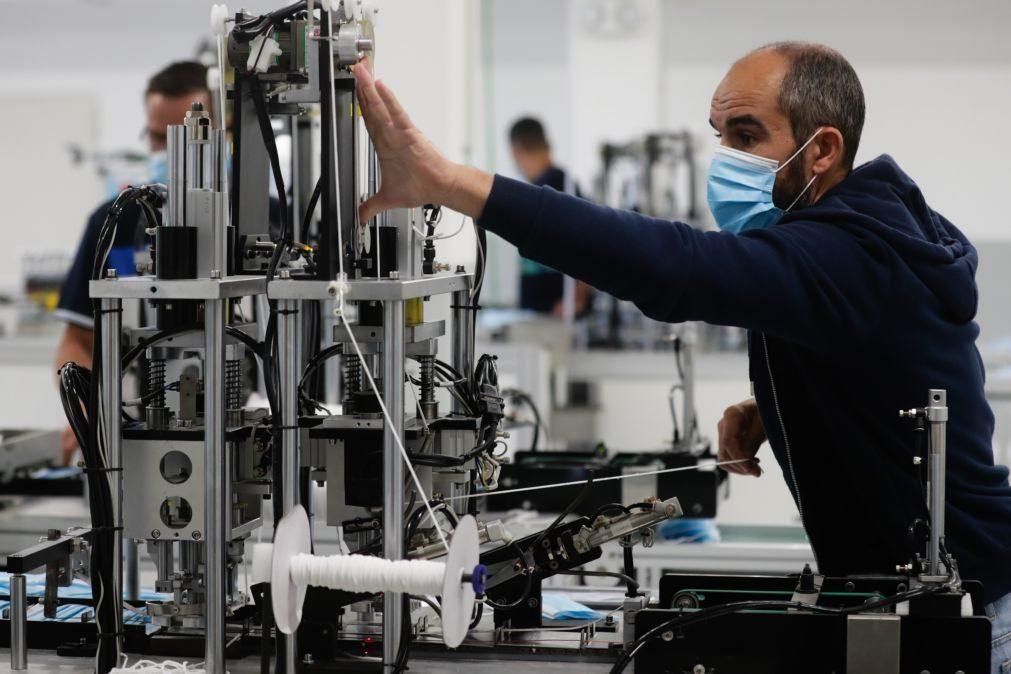 Portugal com 3.º maior recuo homólogo da UE na produção industrial mas maior subida mensal