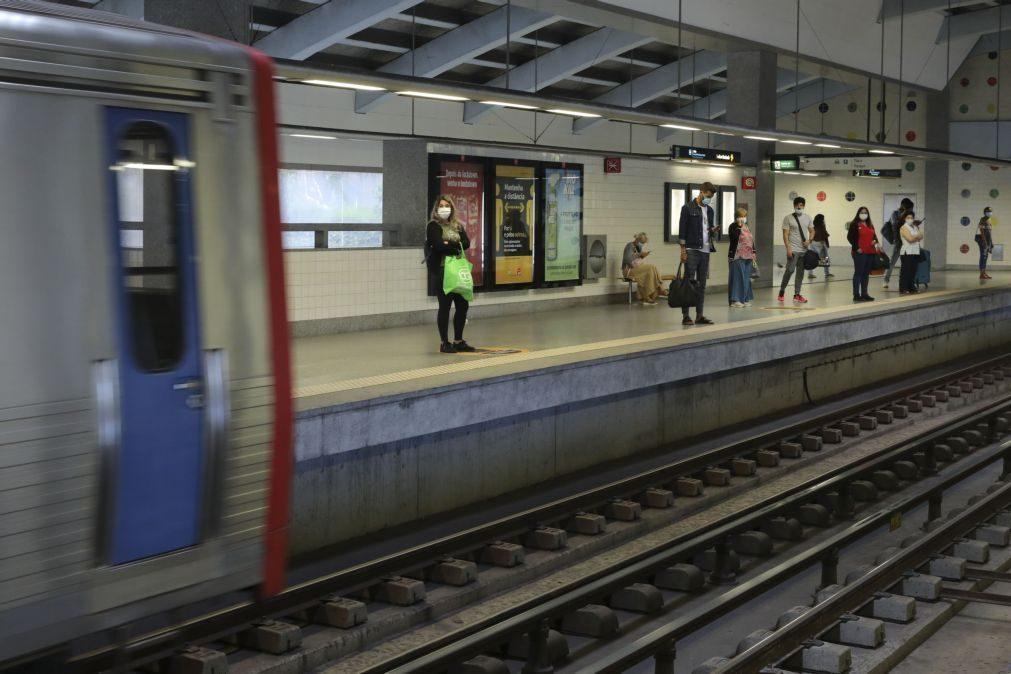 Covid-19: Metro de Lisboa regista quebras de 59% na procura em relação a 2019