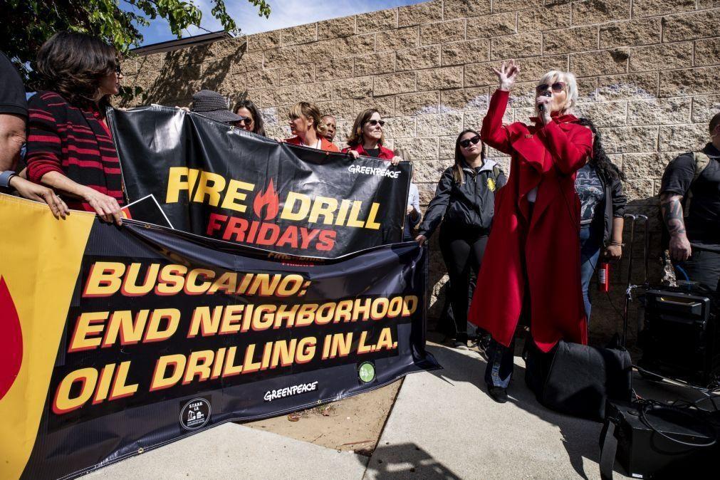 Jane Fonda apela à luta contra crise climática e à desobediência civil nos EUA