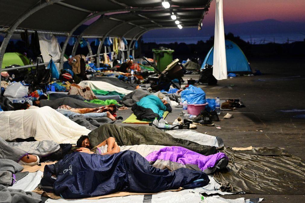 Quase metade dos refugiados de Moria já estão no novo campo