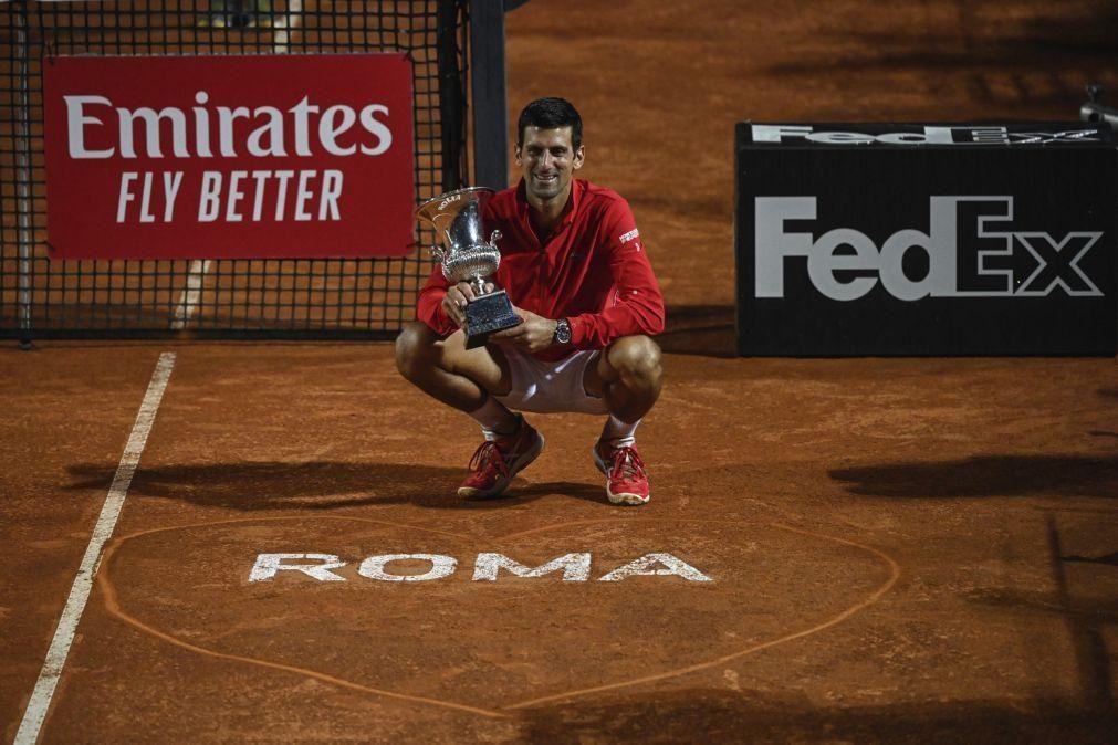 Djokovic ganha Masters 1000 de Roma pela quinta vez