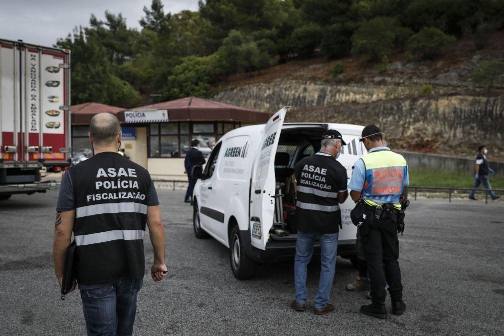 Veículos de mercadorias inspecionados pela ASAE revelam