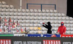 Adeptos separados por cinco lugares no primeiro jogo com público da I Liga