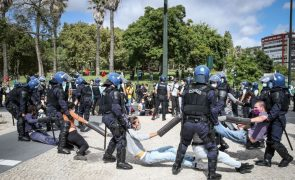 Marquês de Pombal reaberto à circulação após remoção de manifestantes