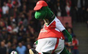 Jogador oferece-se para pagar ordenado de mascote do Arsenal colocada em lay-off