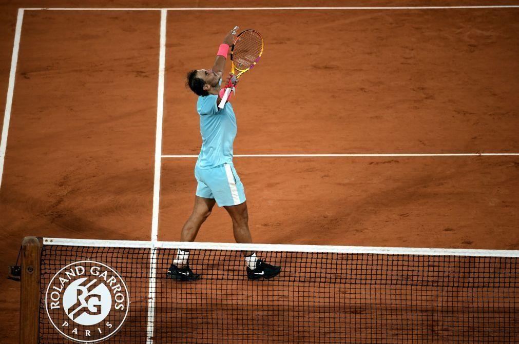 Roland Garros: Nadal pela 13.ª vez nas meias-finais ao bater Sinner