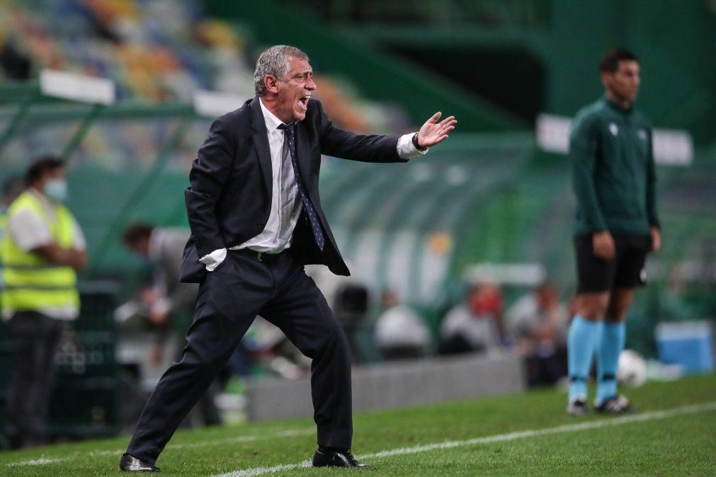 Portugal-Espanha: Fernando Santos igualou 74 jogos de Luiz Felipe Scolari