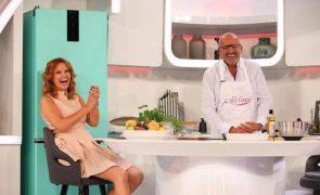 Manuel Luís Goucha A receita de tarte de maçã e amêndoa que fez no Dia de Cristina