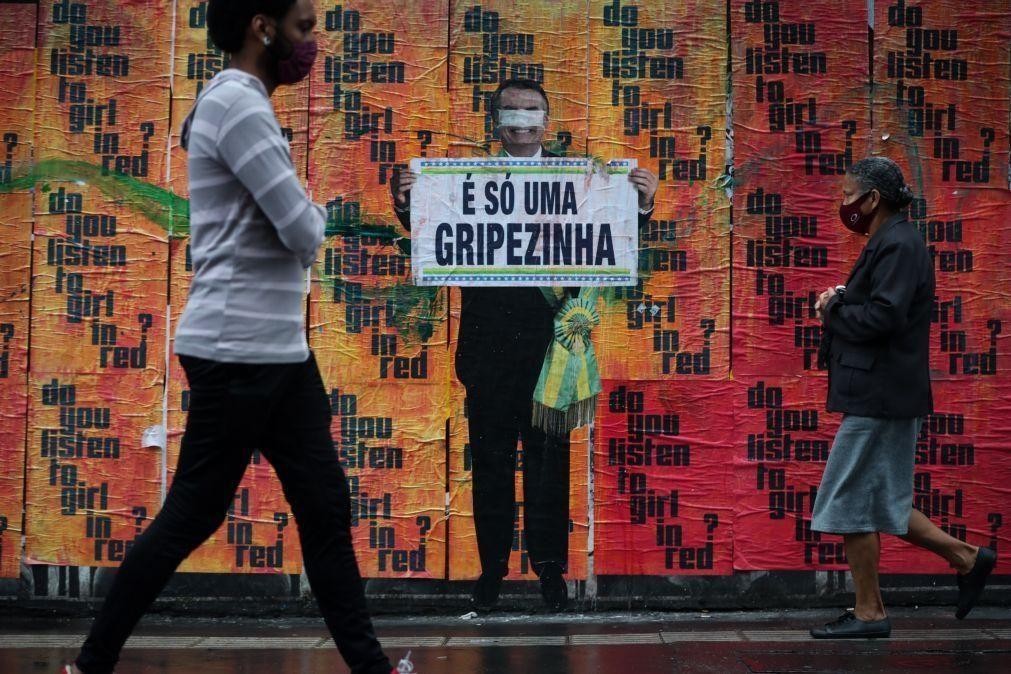 Covid-19: Brasil soma 729 mortes e 27.750 infetados nas últimas 24 horas