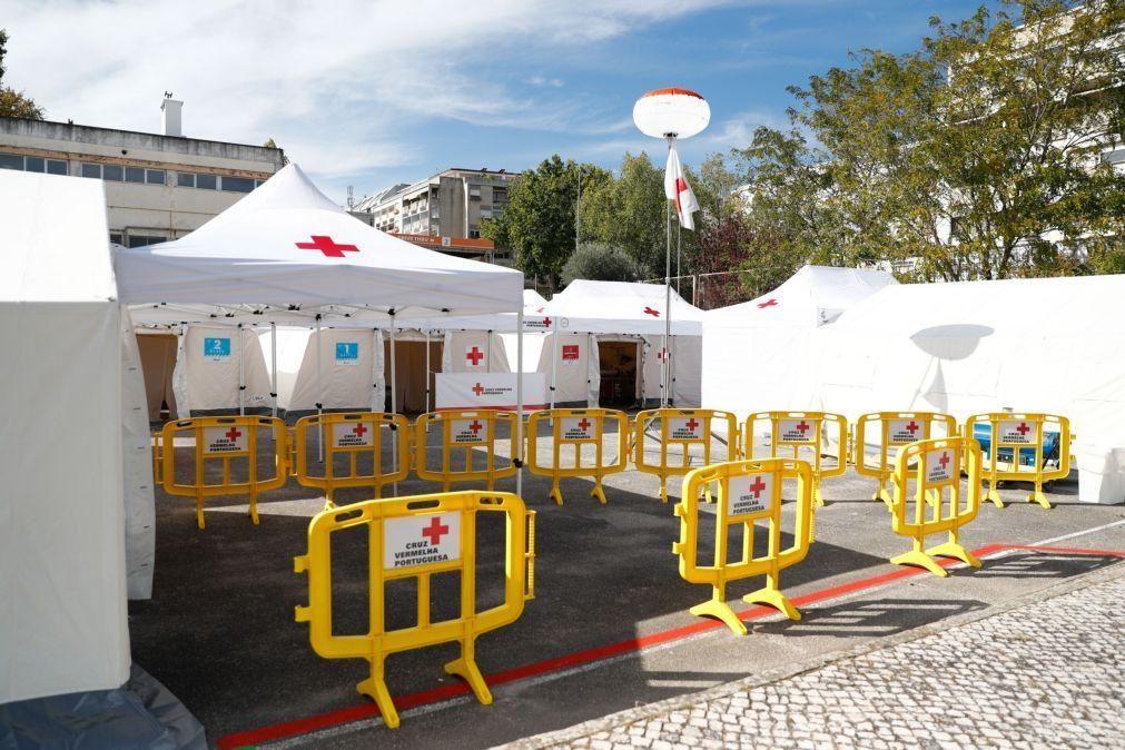 Covid-19: Novo posto da Cruz Vermelha com capacidade para até 3.500 testes por dia