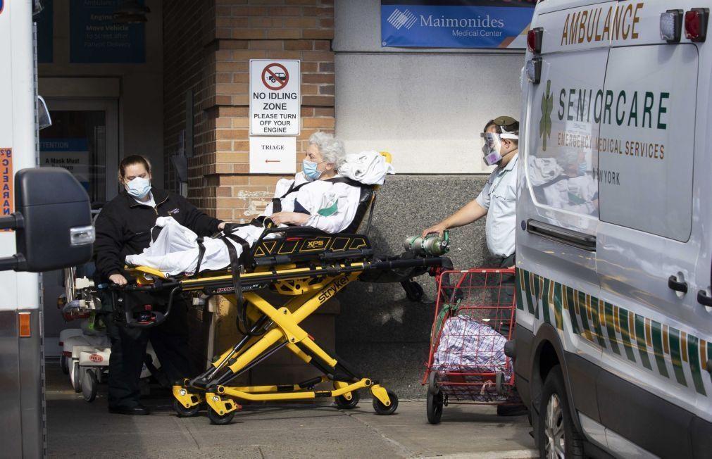 Covid-19: EUA com 460 mortos e 50.965 casos nas últimas 24 horas