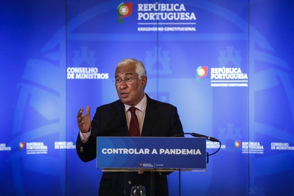 Covid-19: Primeiro-ministro afasta situação de descontrolo no SNS
