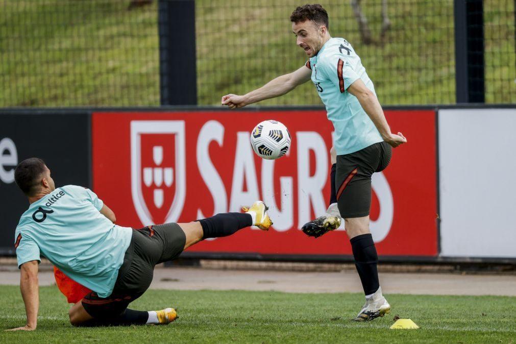 Diogo Jota no lugar de Ronaldo no 'onze' de Portugal frente à Suécia