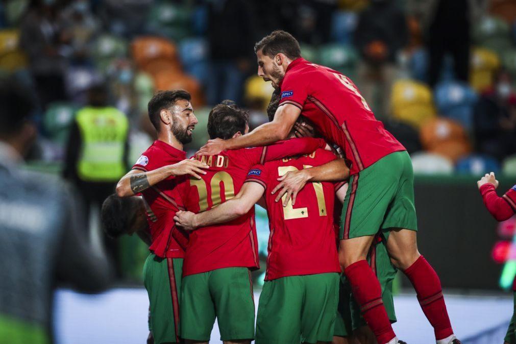 Portugal bate Suécia por 2-0 ao intervalo com golos de Bernardo e Diogo Jota