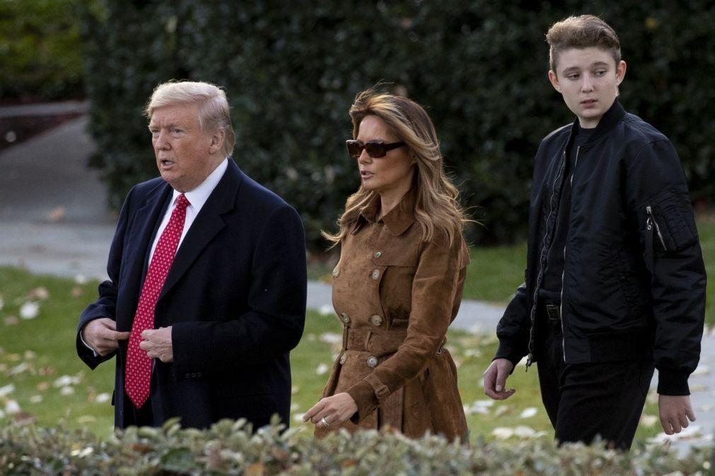 Filho mais novo de Donald Trump infetado com covid-19
