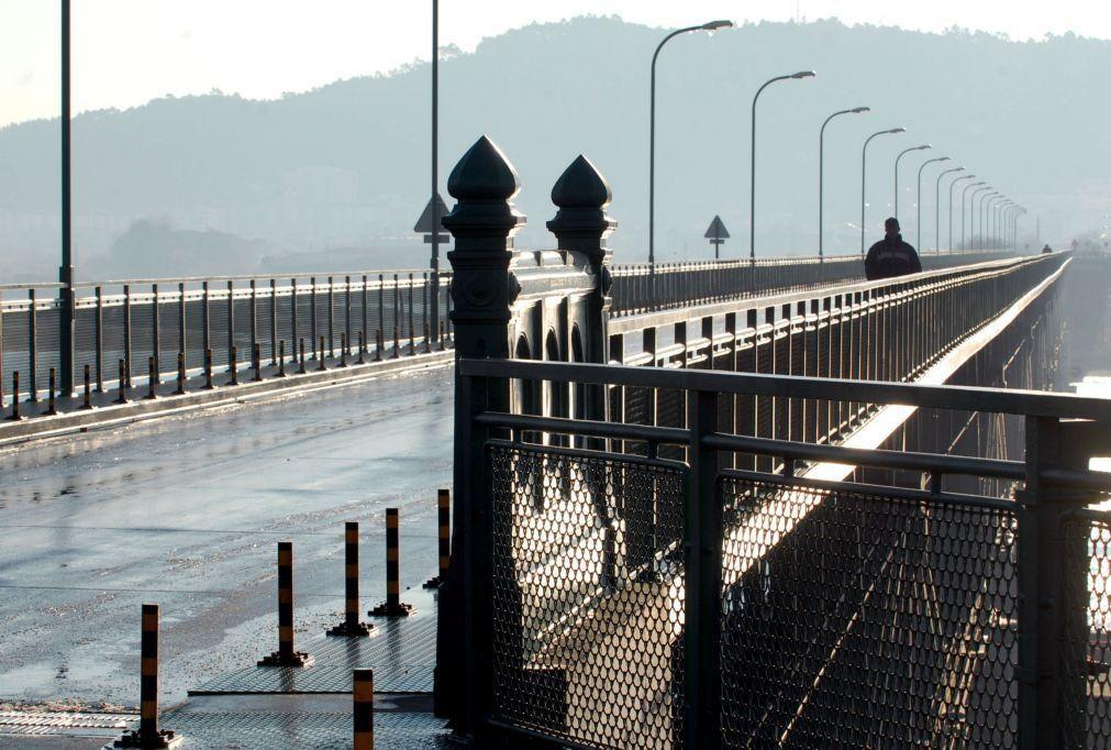 Obras de manutenção encerram ponte Eiffel de Viana do Castelo