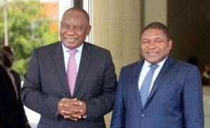 Nyusi e Ramaphosa discutem segurança na região