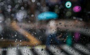 Chuva e vento forte regressam ao continente na segunda-feira