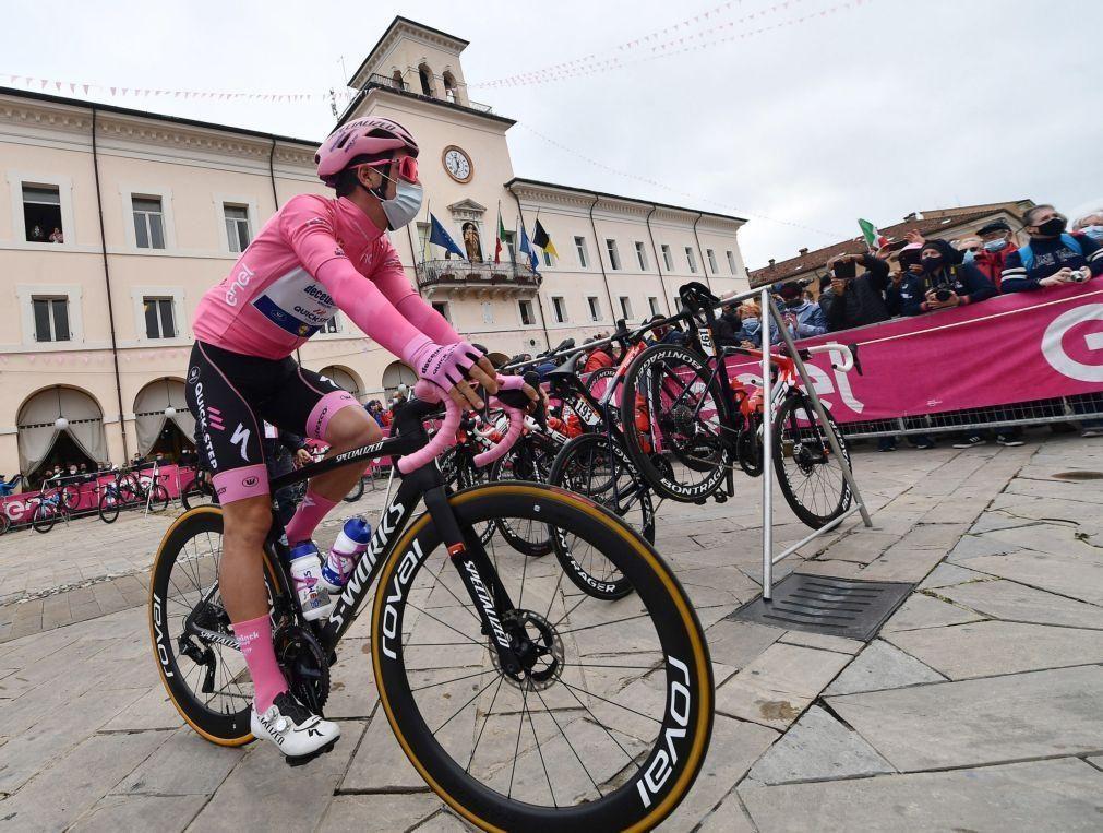 João Almeida é segundo na 13.ª etapa da Volta a Itália e reforça liderança da geral