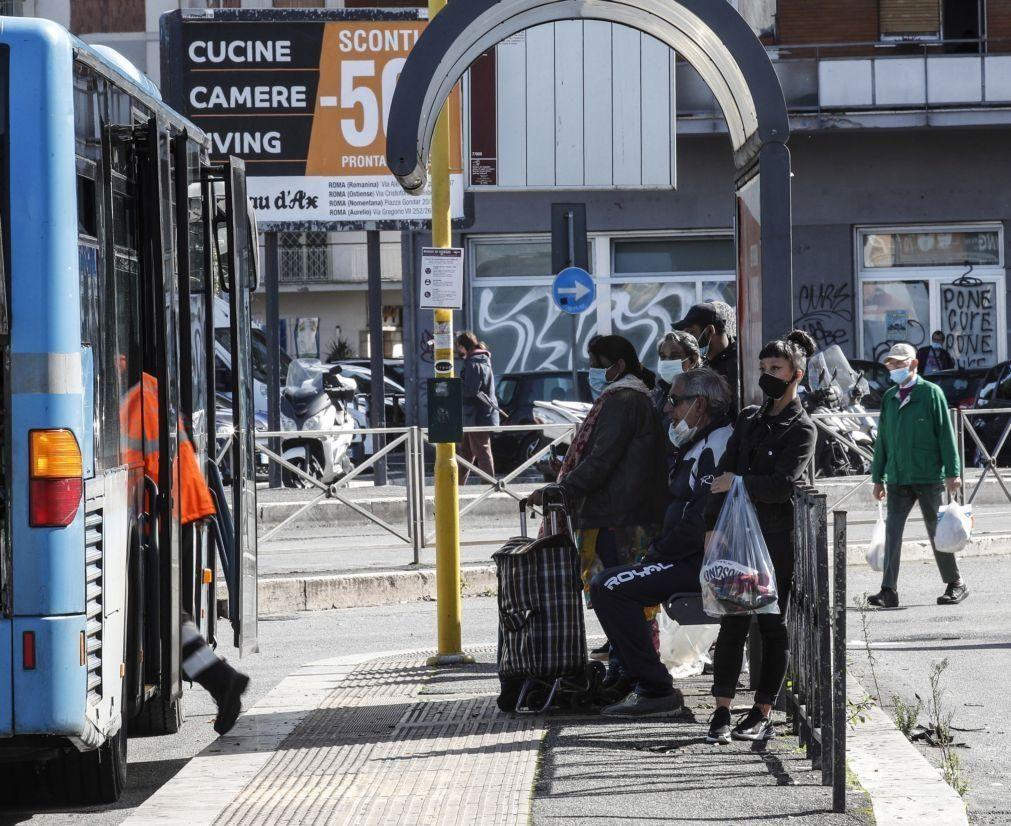 Covid-19: Itália supera os 10 mil casos diários e regista 55 mortes