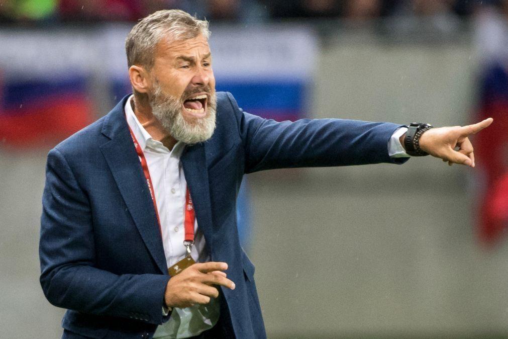 Selecionador da Eslováquia demitido devido aos fracos resultados na Liga das Nações